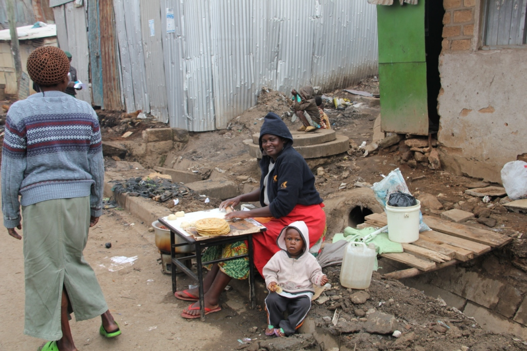Frauen im Mathare Valley Slum