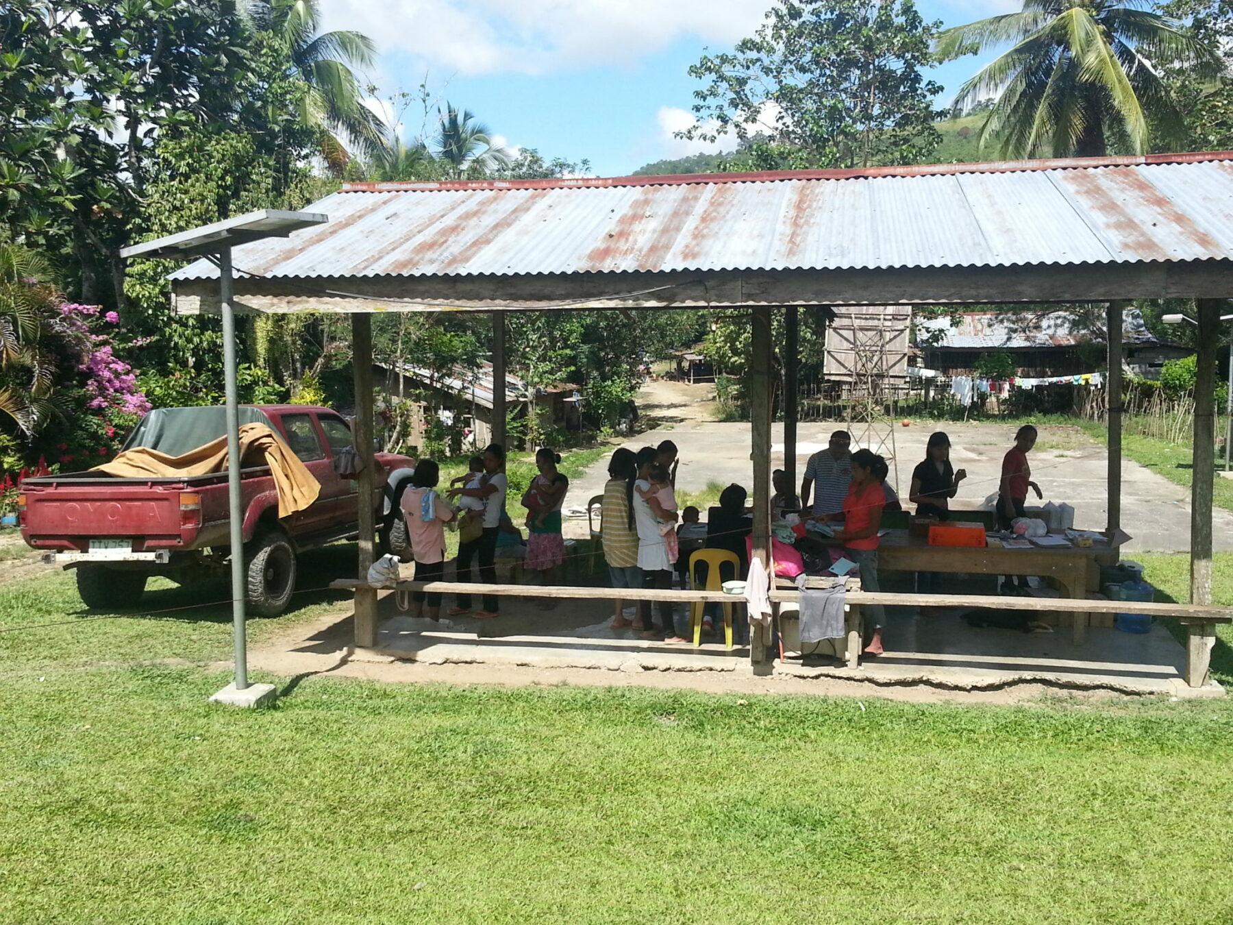 Behandlungsort auf Mindanao