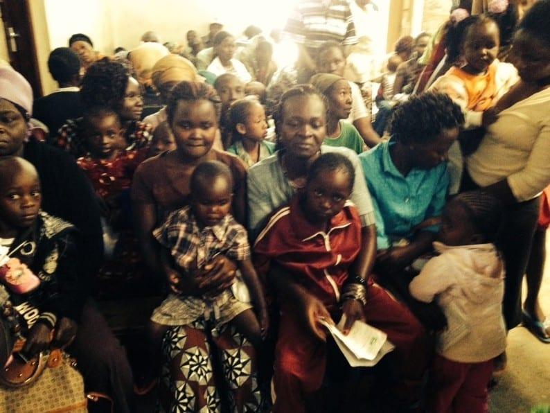 Patienten in Nairobi