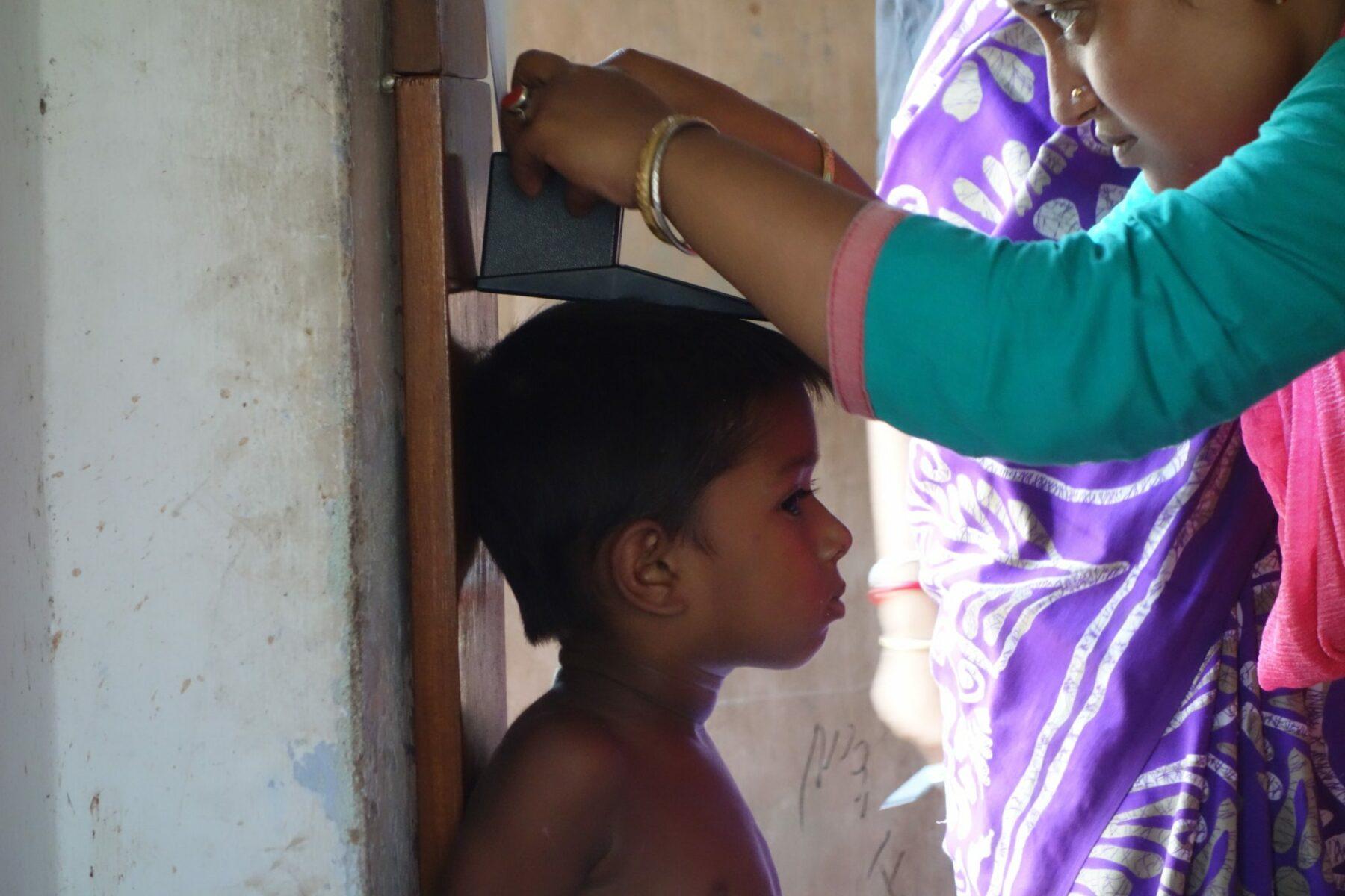Unterernährtes Kind Indien