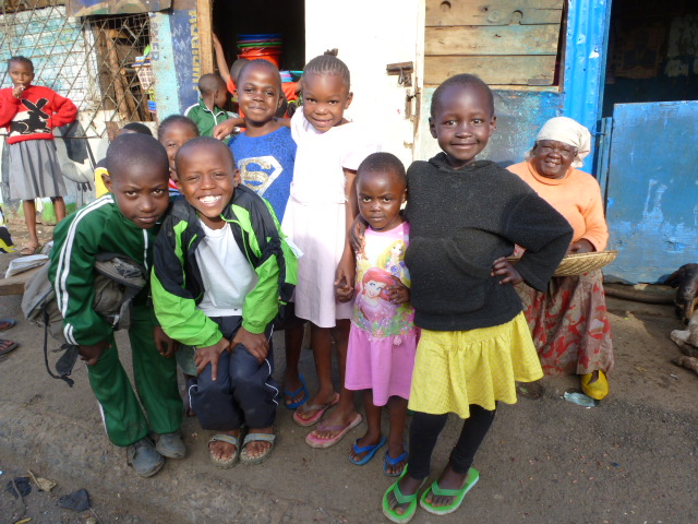 Slumkinder in Nairobi