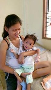 Unterernährtes Kind