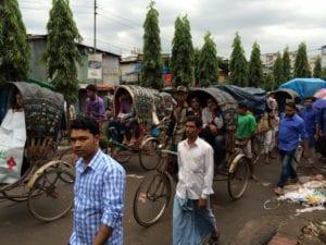 Rikschas in Bangladesch