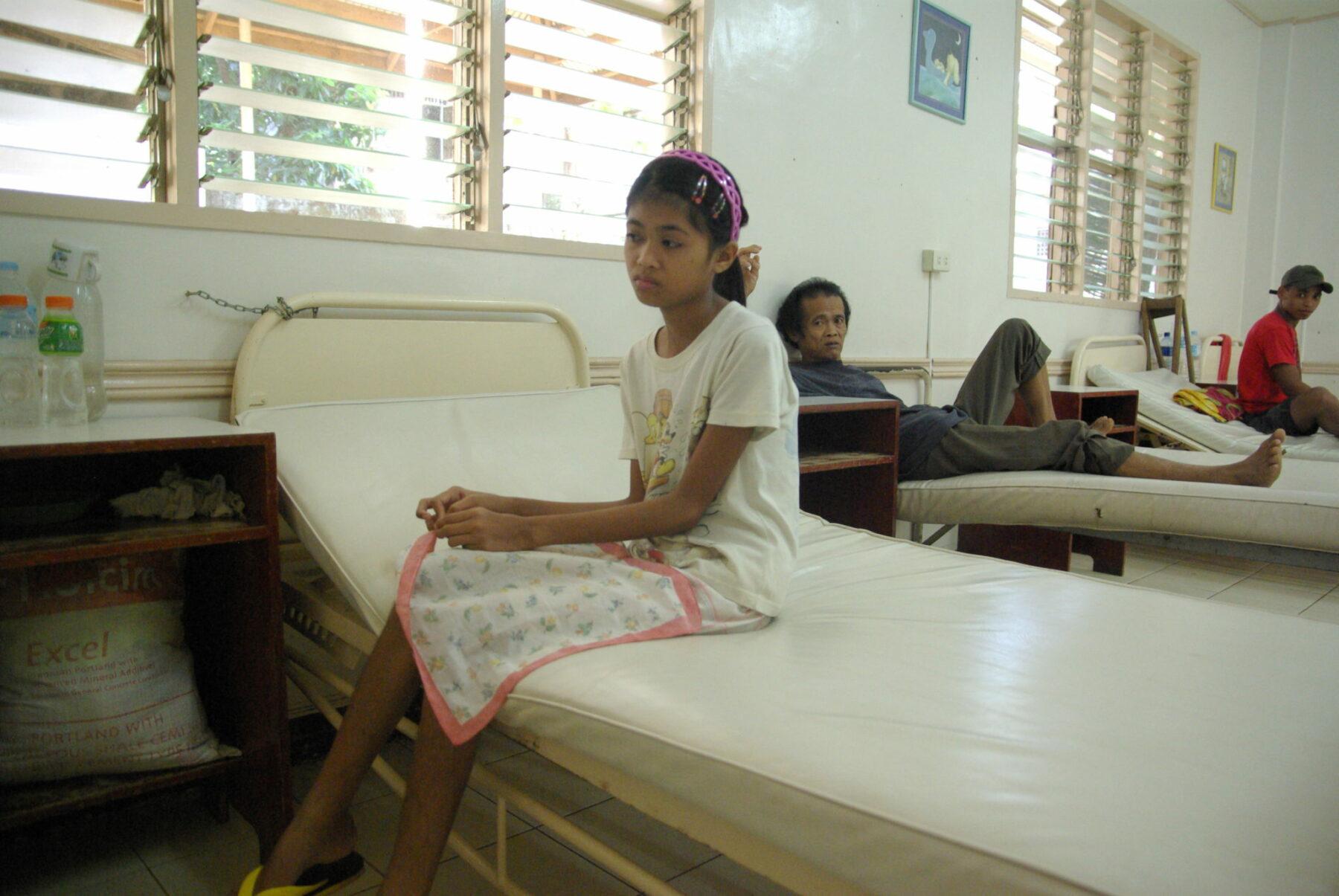 Krankenhauspatientin auf Mindanao