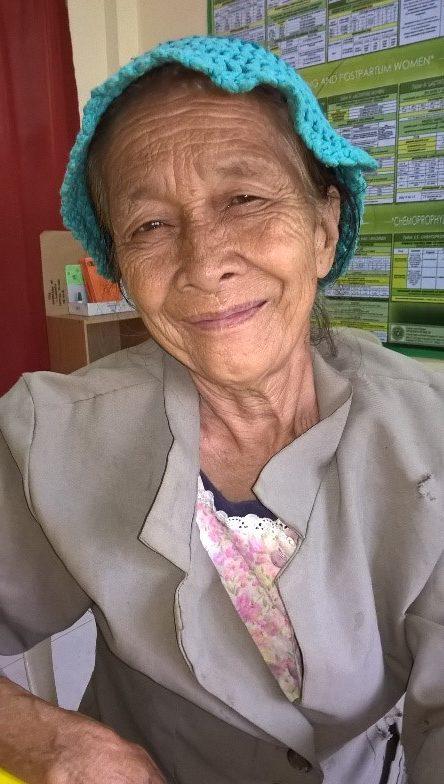 Patientin auf Mindanao