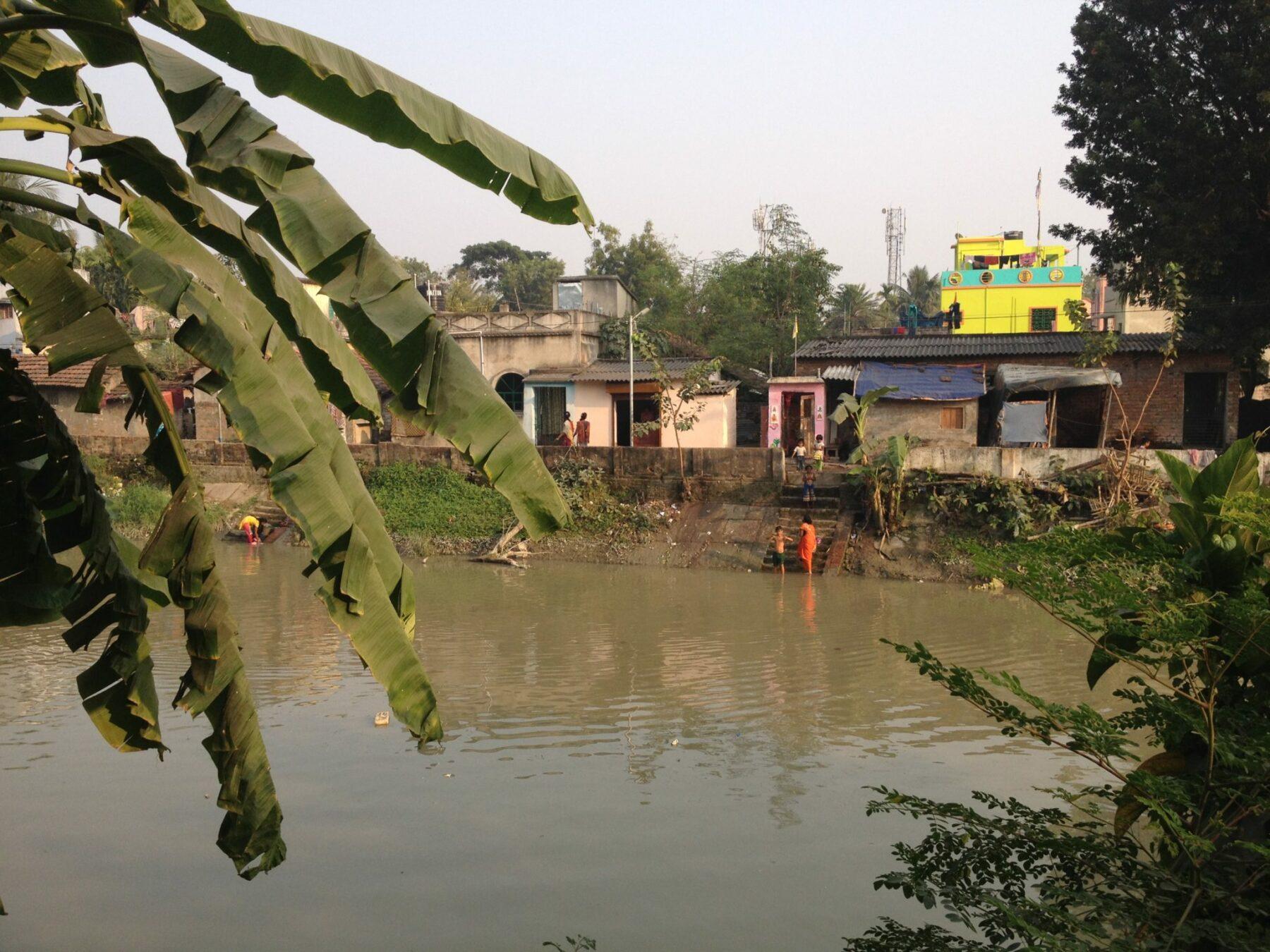 Fluss in Kalkutta
