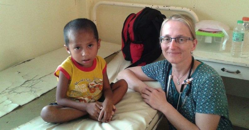 Hungernde Kinder auf den Philippinen