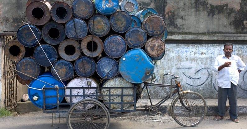 Der Verkehr in Indien ist chaotisch