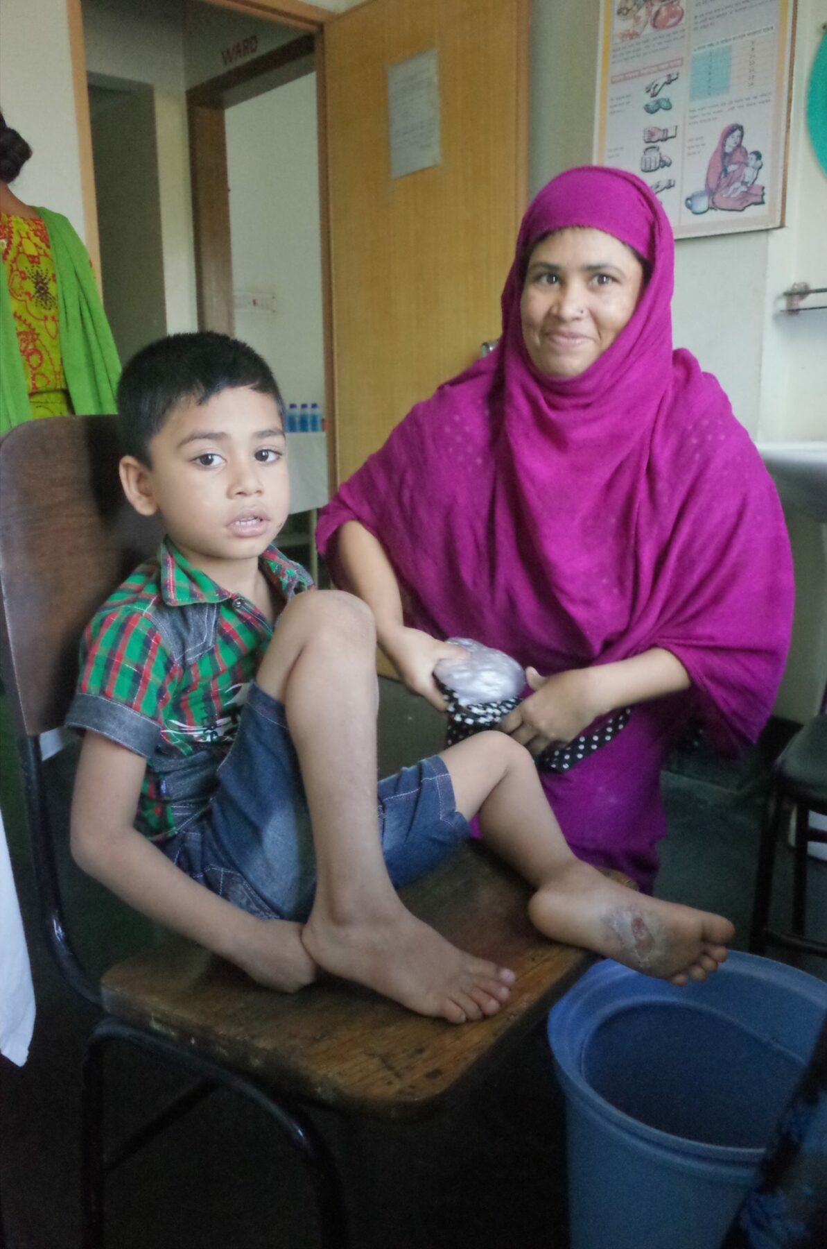 Mutter mit Kind Behandlung