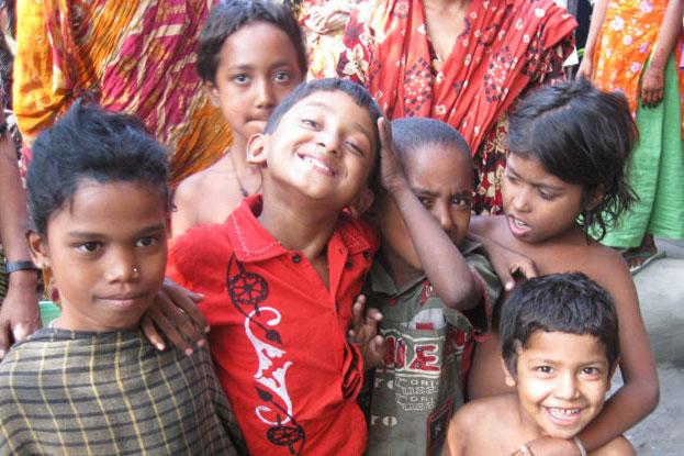Slumbewohner Bangladesch