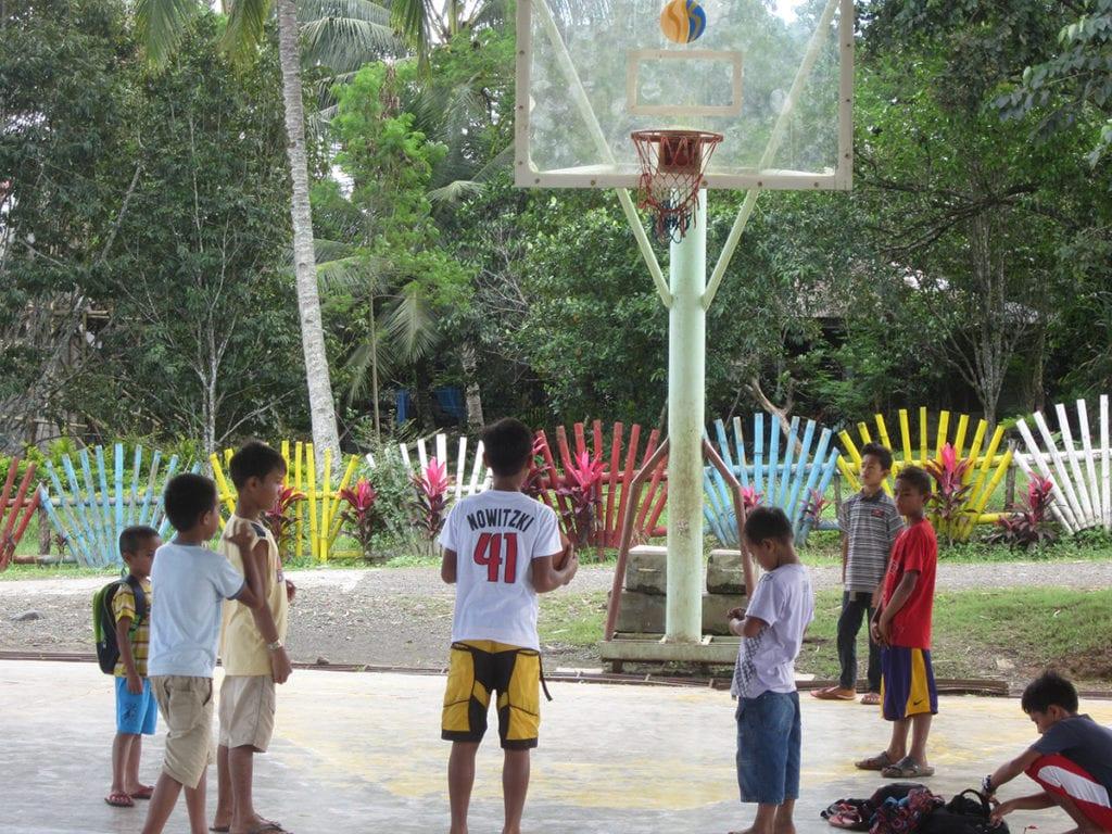 Der Basketballkorb