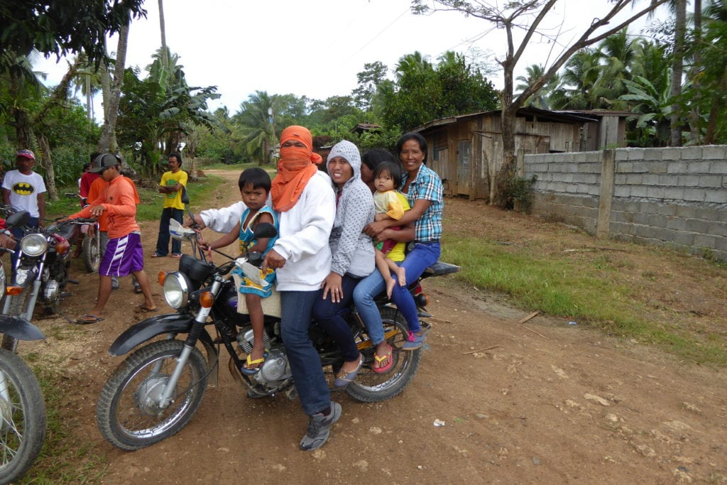 Überfülltes Motorrad
